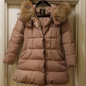 Down coat with fur trim La Chapelle
